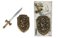 Оружие рыцаря ''Меч и щит'', 53см, 5+