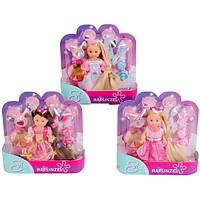 Кукла Еви с длинными волосами и аксессуарами, 3 вида