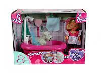 Кукла Еви и набор для купания песика, с функцией смены цвета, 3+, фото 1