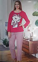 Женская теплая пижама Турция на байке