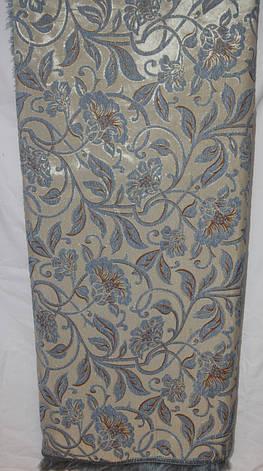 Орхидея покрывала двуспальные на диван, кровать, тахту (голубой), фото 2
