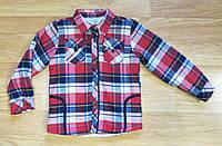 Теплая рубашка на махре на мальчика Турция ( на рост 122 см)