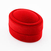 Футляр красный для кольца-серег 56068 размер 5.4*3.8 см