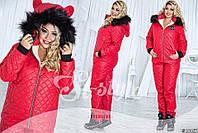 Женский лыжный спортивный зимний костюм (ботал)