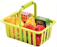 Корзина для супермаркета с продуктами