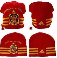 100% Оригинал Зимняя шапка высокая Spanien Аdidas Beanie Испания унисекс