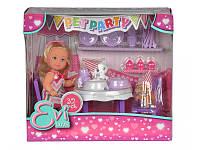 """Кукольный набор Эви """"Вечеринка для домашних любимцев"""" со сладостями и аксессуарами"""