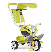 Детский металлический велосипед с козырьком и багажником, зеленый