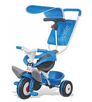 Детский металлический велосипед с козырьком и багажником, синий