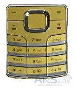 Клавиатура (кнопки) Nokia 6500 Classic Gold