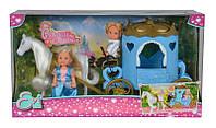 Кукольный набор Эви и Тимми Карета принцессы с конем