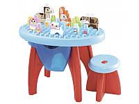 Развивающий конструктор (стол + стул + блоки) 55х40х41,5 см, 12-36 мес.