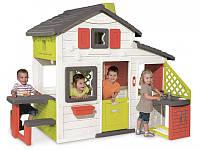 Дом для друзей с чердаком и летней кухней, 217х155х172 см