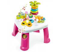Детский игровой стол Cotoons Цветочек со звук. и свет. эффектами, розовый, 12 мес. +