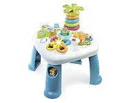 Детский игровой стол Cotoons Цветочек со звук. и свет. эффектами, синий, 12 мес. +