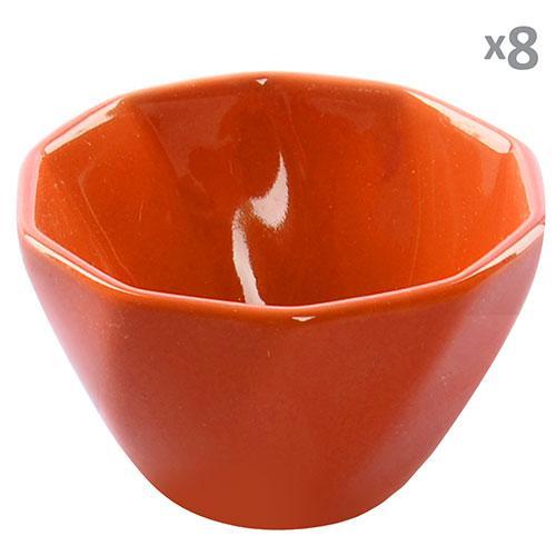Посудина для жульєна кераміка 8шт/наб помаранчеві