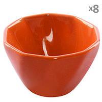 Посудина для жульєна кераміка 8шт/наб помаранчеві, фото 1