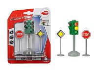 Игровой мини набор Светофор и дорожные знаки, 3+