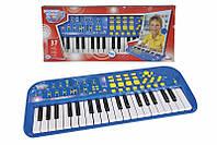 Музыкальный инструмент Электросинтезатор, 37 клавиш, 7 ритмов, 50х20 см, 4+.