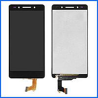 Дисплей (экран) для Huawei Honor 7 (PLK-L01) с тачскрином в сборе, цвет черный