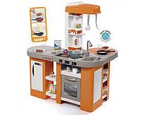 Интерактивная кухня Тефаль. Студио большая с эффектом кипения, звук.ефектом, аксес., Оранжевая, 3+