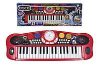 Музыкальный инструмент Диско. Электросинтезатор, 37 клавиш, 8 ритмов, 56 см, 6+