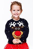 Вязаный свитер для девочки «Маленький олень»