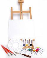 Мольберт + Набор Красок Daler-Rowney Graduate Acrylic Set 10*38