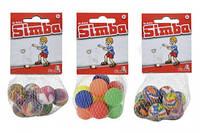 7358168 Набір кульок-попригунчиків у сітці, 10 шт, 28 мм, 3 види, 3+