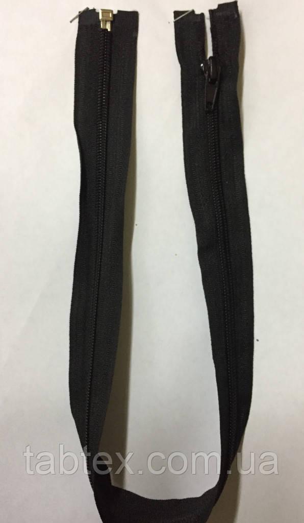 Змейка,нейлон, разъёмная 50см.№5 черная