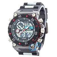 Часы спортивные Sport Watch Black-Red
