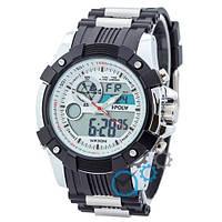 Часы спортивные Sport Watch Black-Silver-White