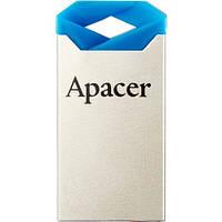 Флеш Память 8 Gb Apacer Ah111 Blue Usb 2.0 (Ap8Gah111U-1), Металл, 24,7X12,2X4,6 Mm, 2,5 G