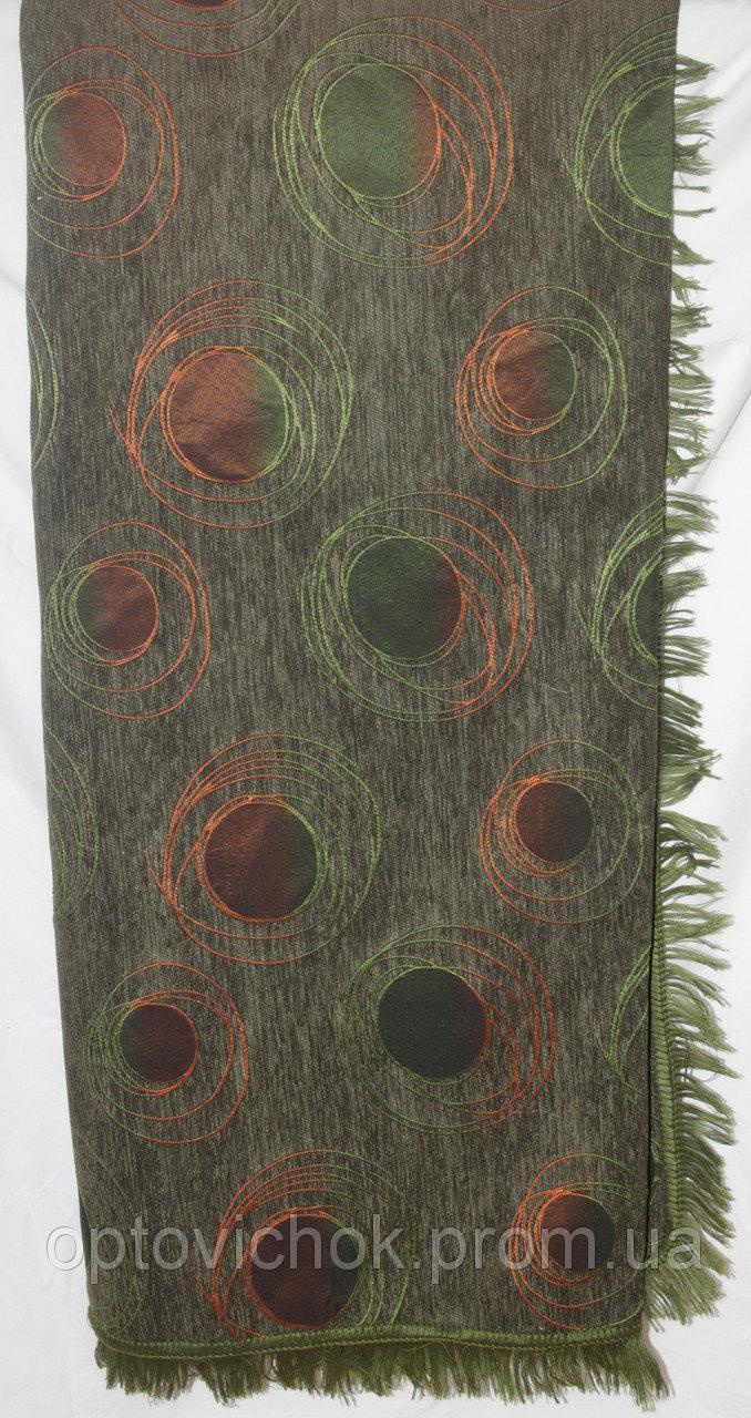 Гобиленовое покрывало ( дивандек) Турин на двуспальную кровать (зеленый)