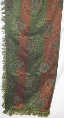 Гобиленовое покрывало ( дивандек) Турин на двуспальную кровать (зеленый), фото 2