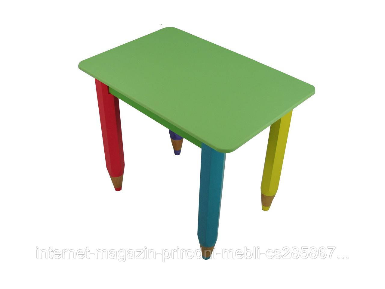Стол карандашики 60*60 с пеналом