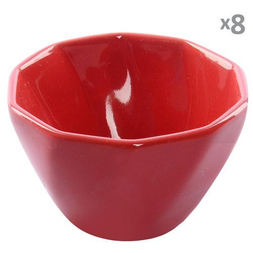 Кокотница для жульена керамика 8шт/наб красные