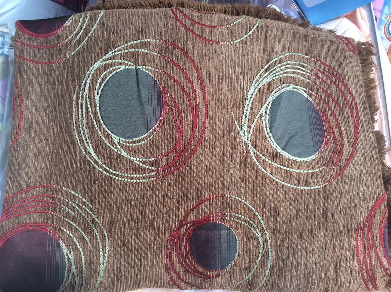 Гобиленовое покрывало ( дивандек) Турин на двуспальную кровать (коричневый)