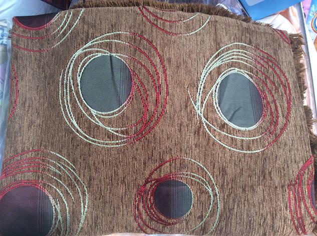 Гобиленовое покрывало ( дивандек) Турин на двуспальную кровать (коричневый), фото 2