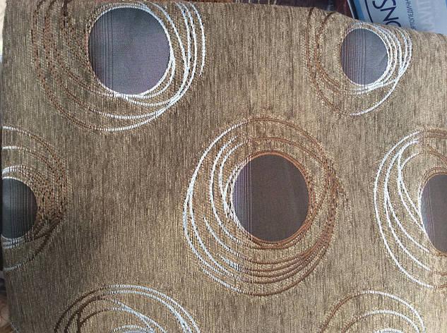 Гобиленовое покрывало ( дивандек) Турин на двуспальную кровать (песочный), фото 2