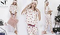 Женская пижама с маской (байка)