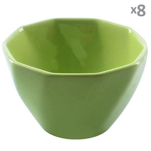 Кокотница для жульена керамика 8шт/наб зеленые