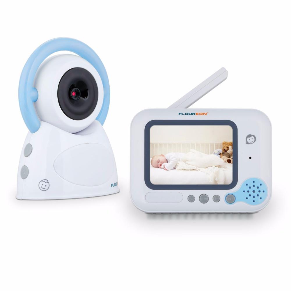 Видеоняня Baby Monitor Floureon 3.5 дюйма. Режим ночного видения и двусторонняя связь