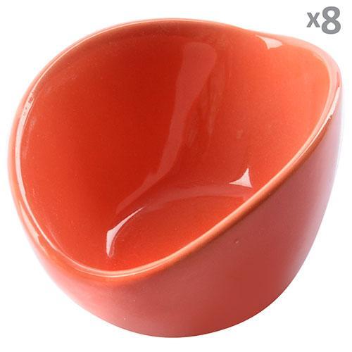 Кокотница для жульена керамика 8шт/наб оранжевые