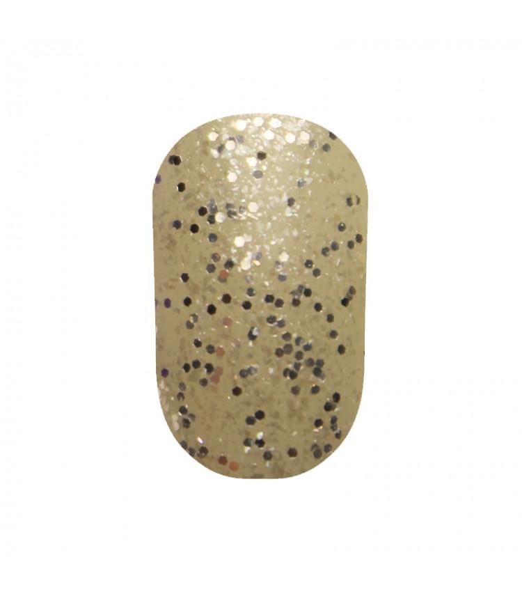 Гель лак Tertio 184 Серебряные блёстки разных размеров 10 мл