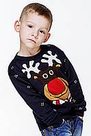 Вязаный свитер для мальчика «Маленький олень»