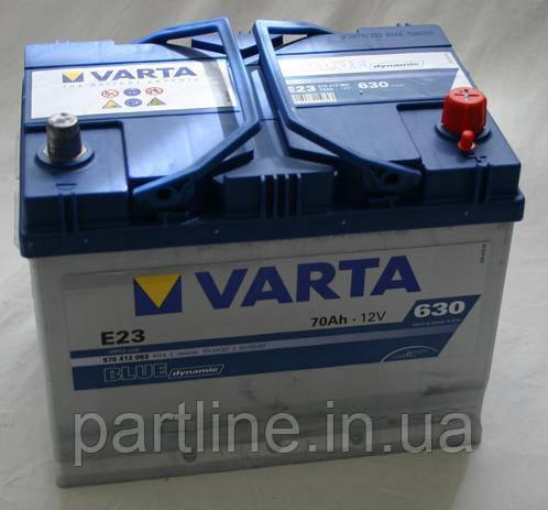 Аккумулятор VARTA Blue Dynamic E23 (570412063) 6СТ-70, 630En, габариты 261х175х220, гарантия 24 мес.