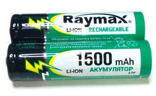 Аккумулятор Li-ion 18650 Raymax 1500 mah