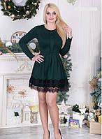 Платье женское 44-50 р Мила зеленое.
