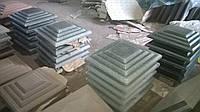 """Колпак бетонный на столб забора 350х350х50мм """"Ступенька"""""""